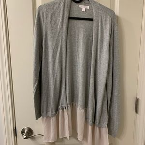 Gray and Baby Pink Cardigan